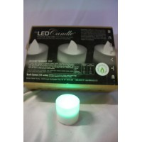 Bougie led flame verte