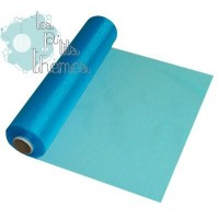 Rouleau Organza 30cm x 25m - Turquoise