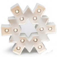 Forme lumineuse led en carton - Flocon