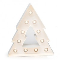 Forme lumineuse led en carton - Sapin