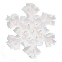 Forme lumineuse led en plastique - Flocon 2