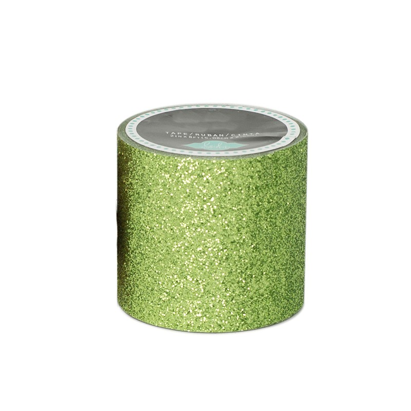 masking tape paillettes ext rieur lettre vert clair. Black Bedroom Furniture Sets. Home Design Ideas