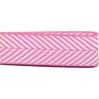 DESTOCK Ruban chevrons - rose - 10mm x 25m