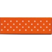 DESTOCK Ruban satin à pois - orange - 6 mm x 25m