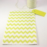 Pochette craft à chevron - yellow - lot de 10