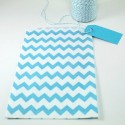 Pochette craft à chevron - bleu - lot de 10