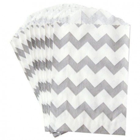 Petite pochette craft à chevron - dove - lot de 10