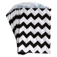 Petite pochette craft à chevron - black - lot de 10