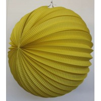 Lampion accordéon - Jaune - 30cm