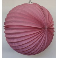 Lampion accordéon - Rose - 20cm