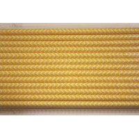 Pailles chevrons yellow - Lot de 25