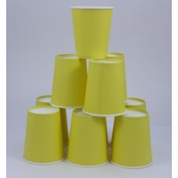 Gobelet en carton 20cl uni x 10 - yellow