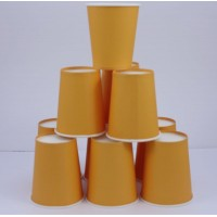 Gobelet en carton 20cl uni x 10 - orange