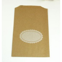 Pochette craft avec étiquette ovale whitehe - lot de 10