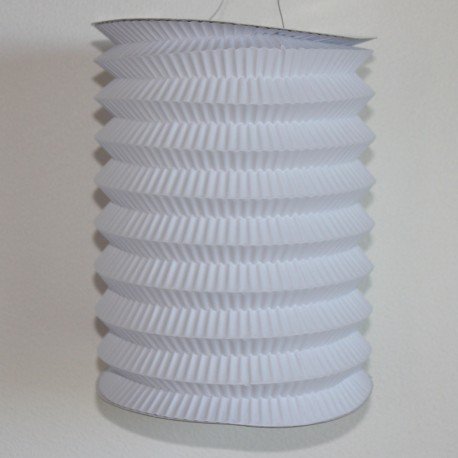 Lampion cylindrique - White - 20cm