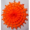 Rosaces flocon en papier Orange potiron - 30cm