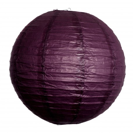 Lanterne Papier - Aubergine - 30cm