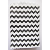 Pochette craft à chevron - noir - lot de 10