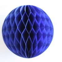 Lampion alvéolé - Royal blue - 30cm