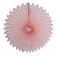 Rosaces en papier Rose pale - 30cm