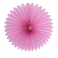 Rosaces en papier Hot pink - 20cm