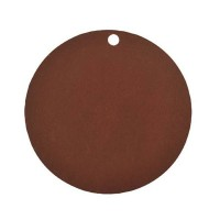 marque place rond papier 4X7cm - lot de 10 - Brown