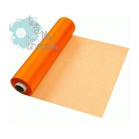Rouleau Organza 30cm x 25m - Orange