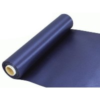 Rouleau satin 30cm x 20m - Navy Blue