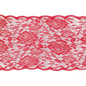 CHEMIN DE TABLE DENTELLE ROSE ROUGE 17CMX5M