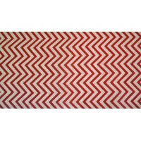 CHEMIN DE TABLE JUTE CHEVRONS BORDEAUX 28CMX5M