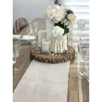 CHEMIN DE TABLE LIN NATUREL 28CMX5M