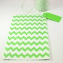 Pochette craft à chevron - vert - lot de 10