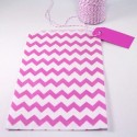 Pochette craft à chevron - rose - lot de 10