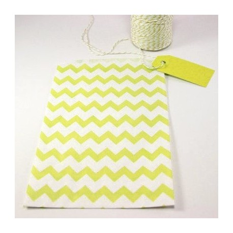 Pochette craft à chevron - jaune - lot de 10