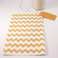 Pochette craft à chevron - orange - lot de 10