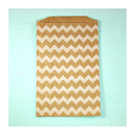 Pochette craft à chevron - white - lot de 10