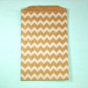 Pochette craft à chevron - blanc - lot de 10