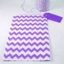 Pochette craft à chevron - violet - lot de 10