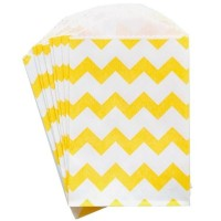 Petite pochette craft à chevron - yellow - lot de 10