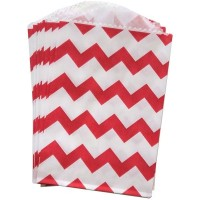Petite pochette craft à chevron - red - lot de 10