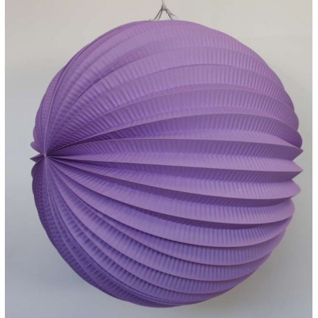 Lampion accordéon - Violet - 30cm