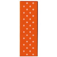 Ruban Satin à pois 25m - Orange