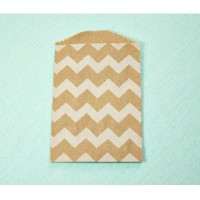 Petite pochette craft à chevron - white - lot de 10